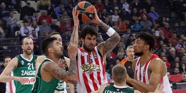 Regular Season, Round 22: Olympiacos Piraeus vs. Zalgiris Kaunas