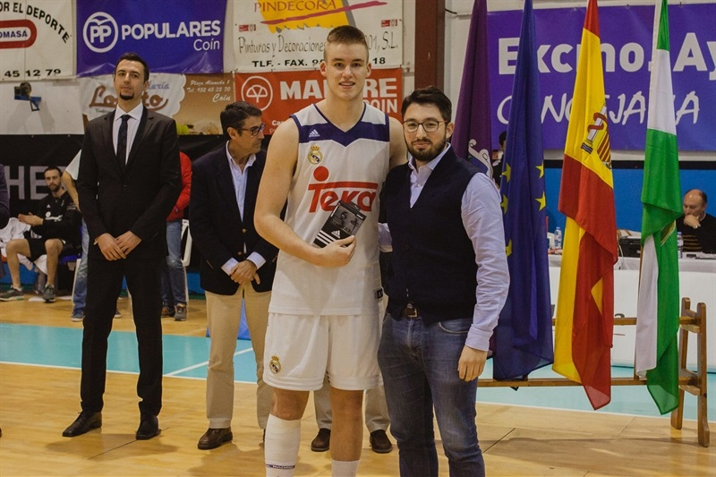 Dino Radoncic, MVP - U18 Real Madrid - ANGT Coin 2017 - JT16 (photo Antonio Ordoñez)