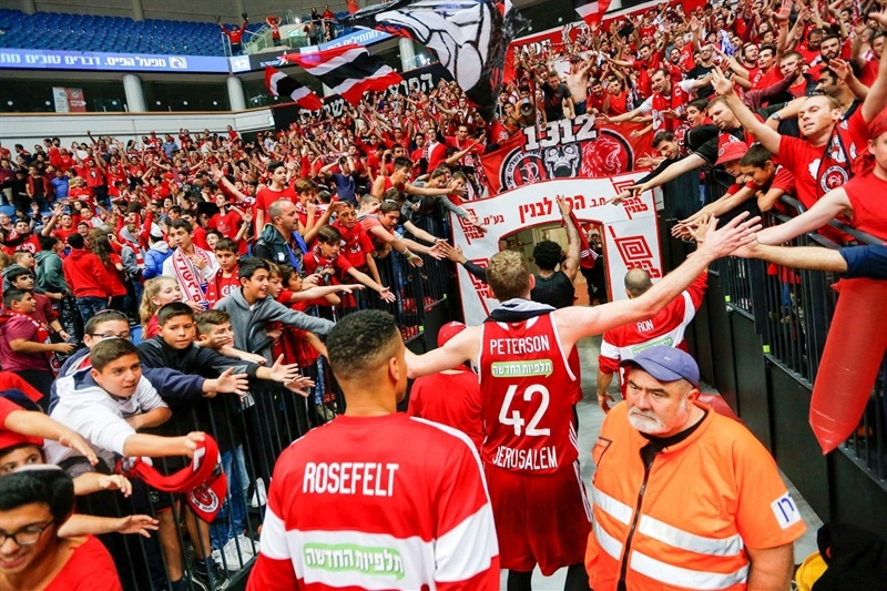 Fans - Hapoel Bank Yahav Jerusalem - EC16 (photo Hapoel)