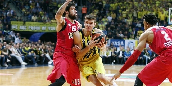 Regular Season Round 23: Fenerbahce rallies in fourth quarter to edge Olympiacos