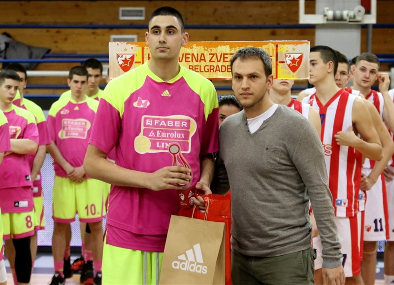 Goga Bitadze of U18 Mega Bemax Belgrade - All Tournament Team - ANGT Belgrade 2017 - JT16