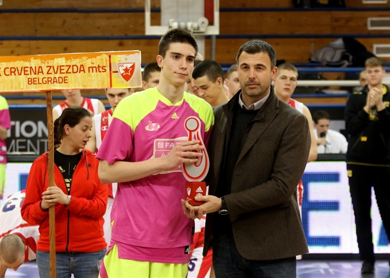 Nikola Miskovic of U18 Mega Bemax Belgrade - All Tournament Team - ANGT Belgrade 2017 - JT16