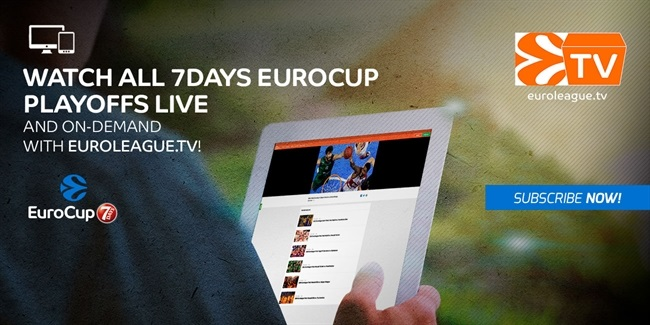 Follow the 7DAYS EuroCup playoffs live on the Euroleague.TV OTT platform!