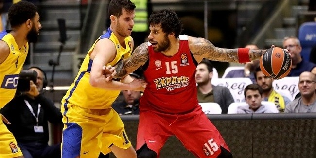 Regular Season, Round 24: Maccabi FOX Tel Aviv vs. Olympiacos Piraeus