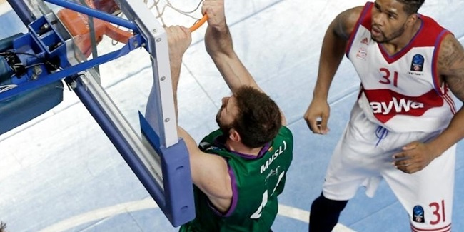 Quarterfinals Game 3: Unicaja beats Bayern in Munich to advance to semifinals