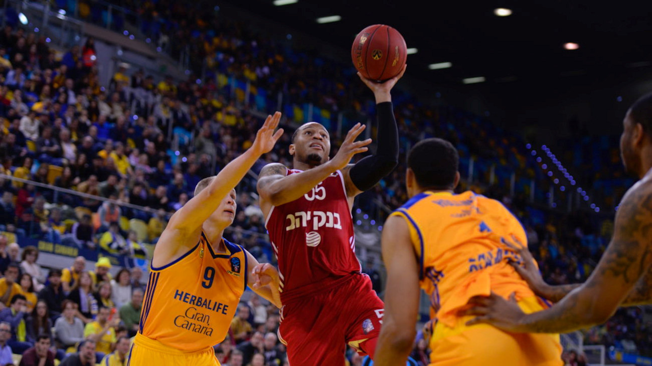 Curtis Jerrells - Hapoel Bank Yahav Jerusalem - EC16 (photo Gran Canaria)