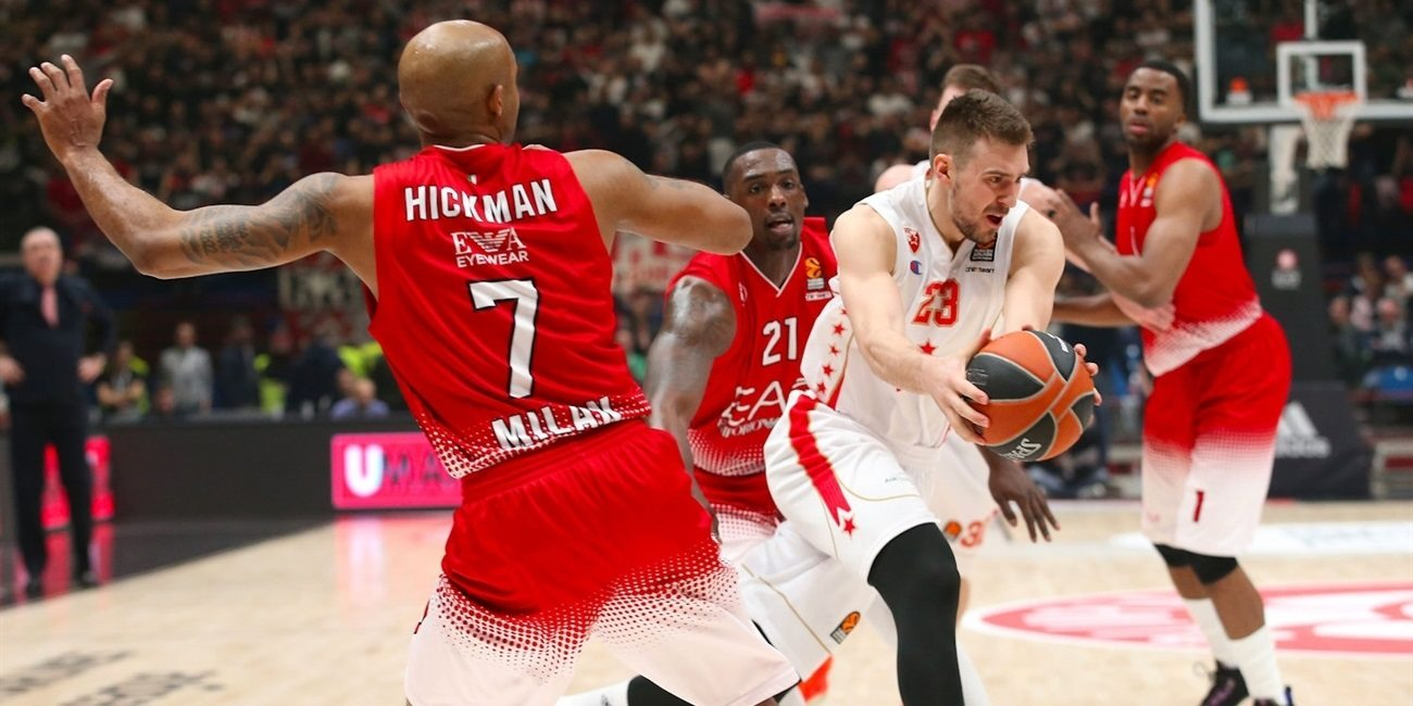Regular Season Round 26: Zvezda rules early and late to win in Milan