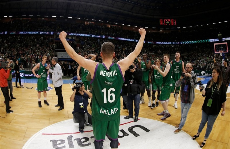 Nemanja Nedovic celebrates - Unicaja Malaga - EC16 (photo Unicaja - Mariano Pozo)