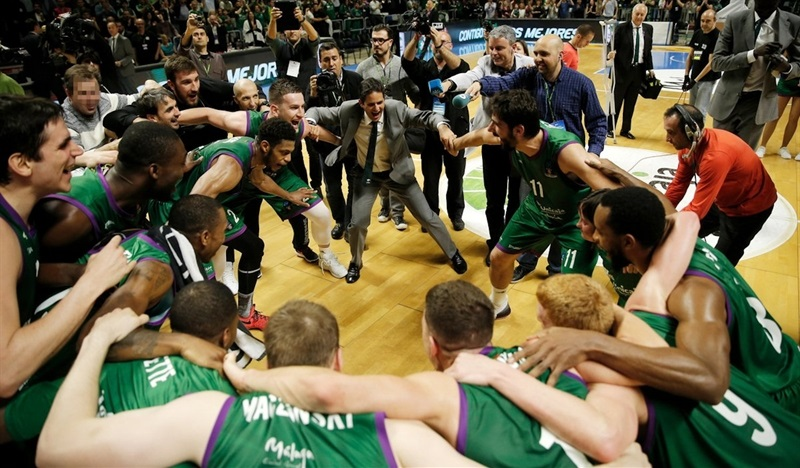 Unicaja Malaga celebrates - EC16 (photo Unicaja - Mariano Pozo)