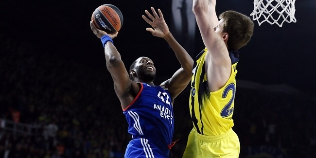 Regular Season Round 28: Anadolu Efes beats Fenerbahce to clinch playoff berth