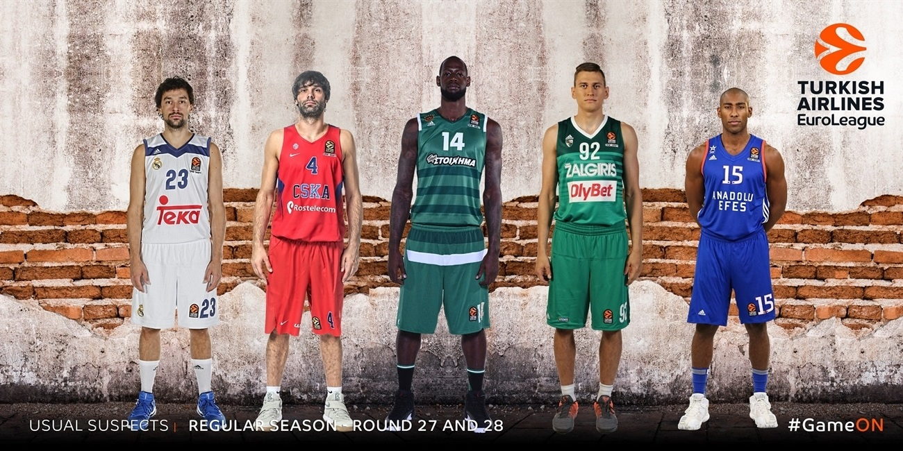 The Usual Suspects by Eurohoops.net: Regular Season Round 27 and Round 28
