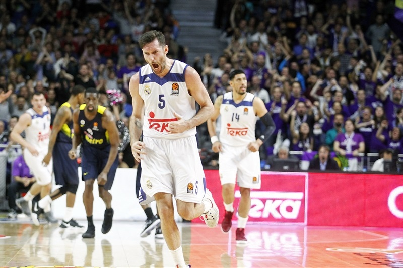 Rudy Fernandez celebrates - Real Madrid - EB16