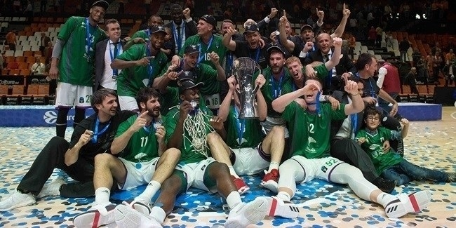 Finals, Game 3: Unicaja Malaga celebration!