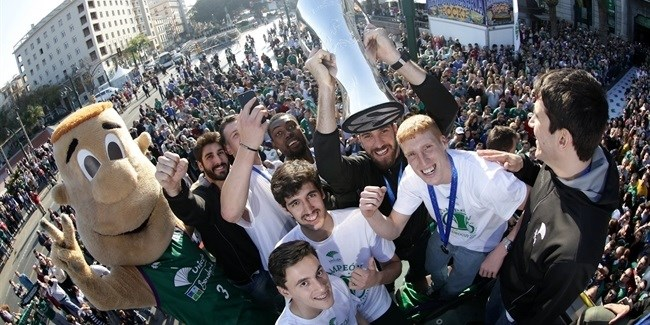 Unicaja celebrates in Malaga - Unicaja Malaga 2017 7DAYS EuroCup champion