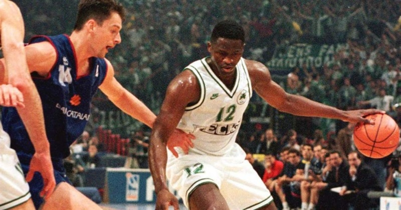 Dominique Wilkins with Panathinaikos Athens - Euroleague archive