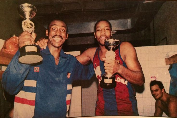Eugene McDowell and Audie Norris - FC Barcelona - EuroLeague archive