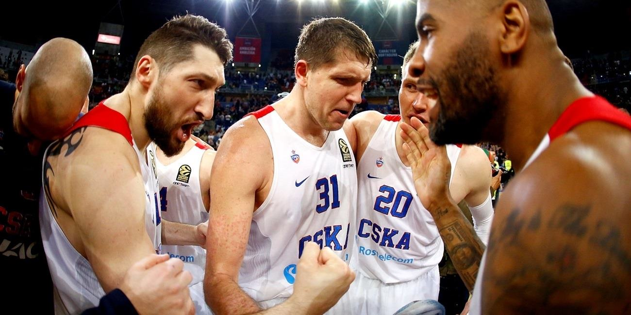 Players CSKA Moscow celebrates Final Four - EB16