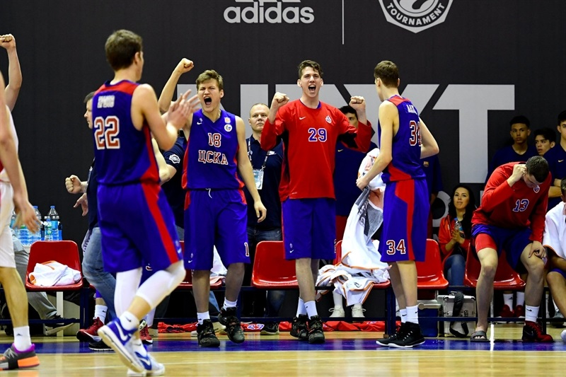 U18 CSKA Moscow celebrates - ANGT Final Four Istanbul 2017 - EB16