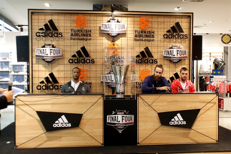 Anthony Randolph, Luigi Datome and Vangelis Mantzaris - Stars come out for Trophy Tour - Final Four Istanbul 2017 - EB16