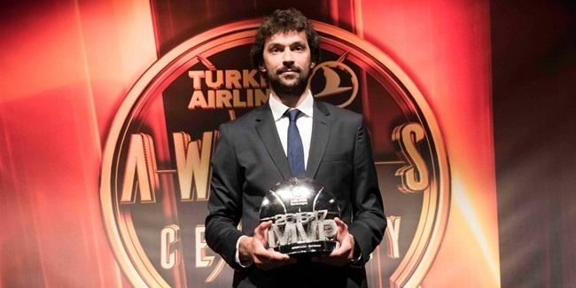 Madrid's Llull is crowned the 2016-17 Turkish Airlines EuroLeague MVP!