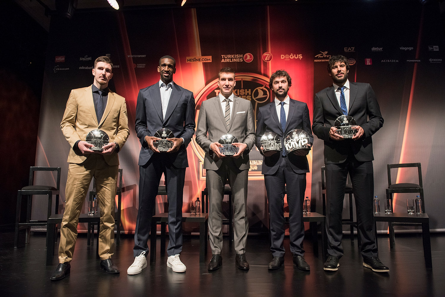 All-EuroLeague First Team - Turkish Airlines Euroleague Awards Ceremony - Final Four Istanbul 2017 - EB16