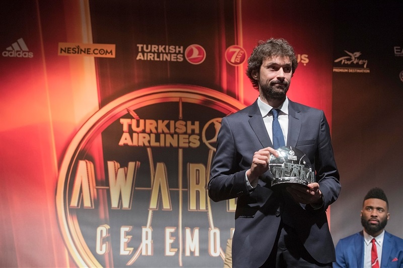 Sergio Llull - All-EuroLeague First Team - Turkish Airlines Euroleague Awards Ceremony - Final Four Istanbul 2017 - EB16