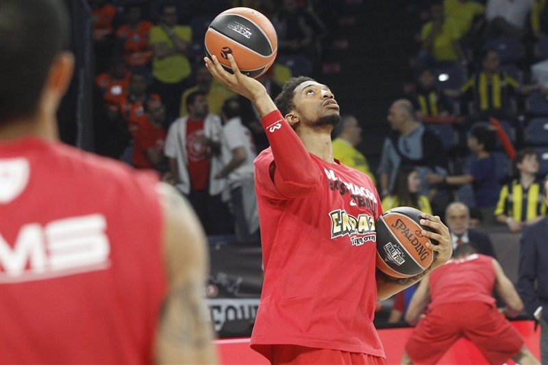 Khem Birch - Olympiacos Piraeus pregame - Final Four Istanbul 2017 - EB16