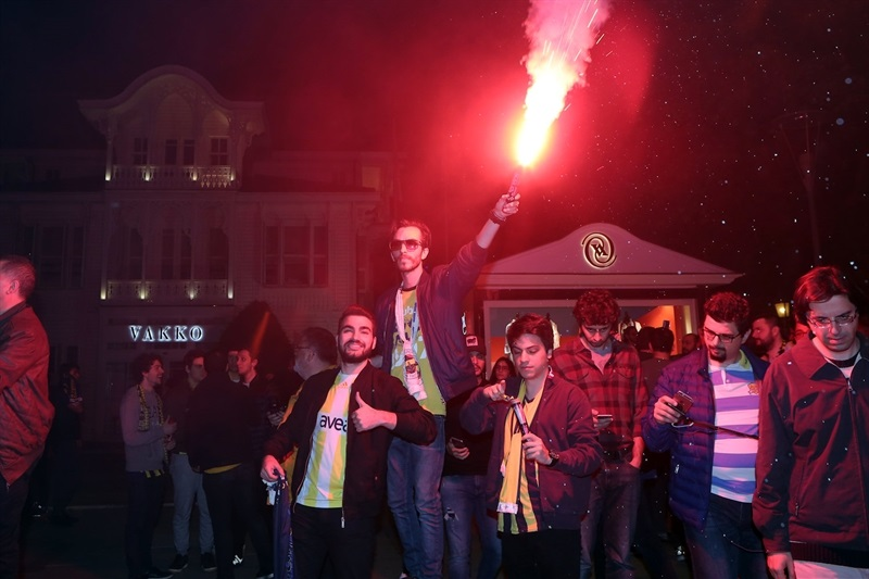 Celebrations of Fenerbahce at Kadikoy - Final Four Istanbul 2017 - EB16