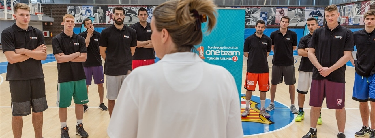 EuroLeague players come together to learn about One Team