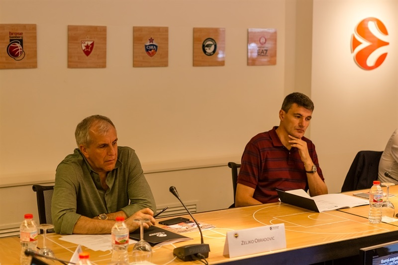 Zeljko Obradovic and Velimir perasovic - Coaches Meeting in Barcelona - EB17