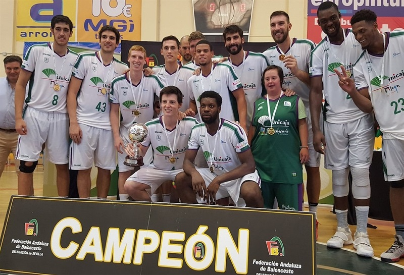 Unicaja Malaga champ Copa de Andalucia in preseason (photo Unicaja) - EB17