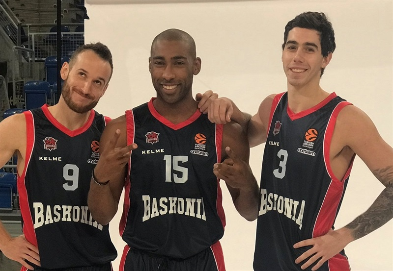 Huertas, Granger and Vildoza - Baskonia Vitoria Gasteiz Media Day 2017 - EB17