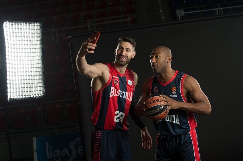 Tornike Shengelia and Jayson Granger - Baskonia Vitoria Gasteiz Media Day 2017 - EB17