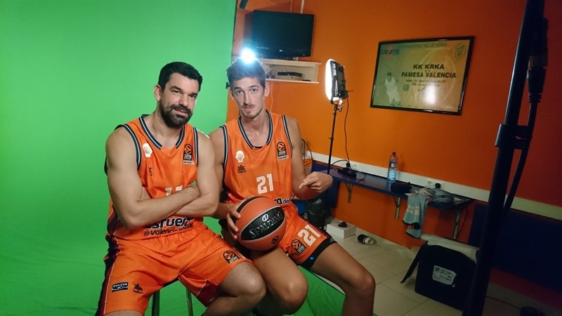 Rafa Martinez and Tibor Pleiss - Valencia Basket Media Day 2017 - EB17