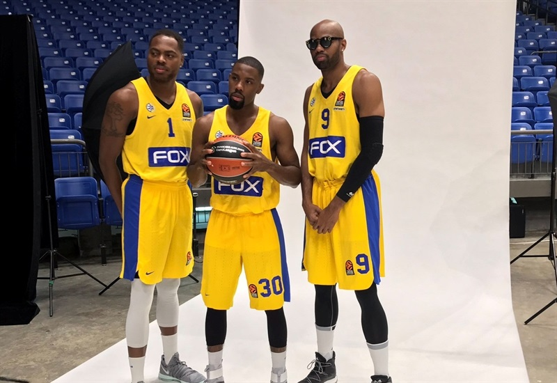 Thomas, Cole and Tyus - Maccabi FOX Tel Aviv Media Day 2017 - EB17