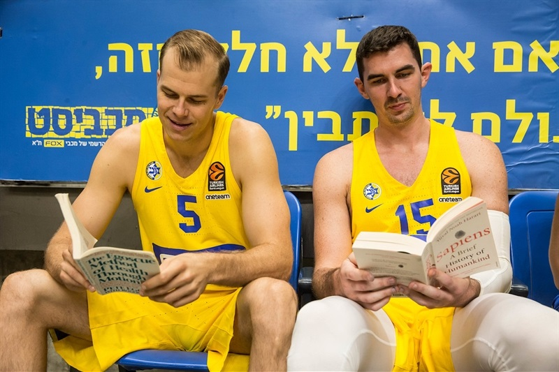 Michael Roll and Jake Cohen - Maccabi FOX Tel Aviv Media Day 2017 - EB17