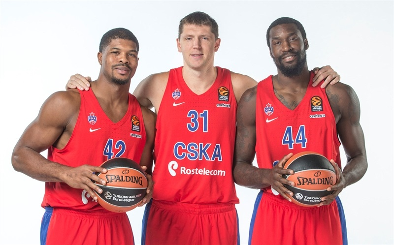 Hines, Khryapa and Hunter - CSKA Moscow Media Day 2017 - EB17