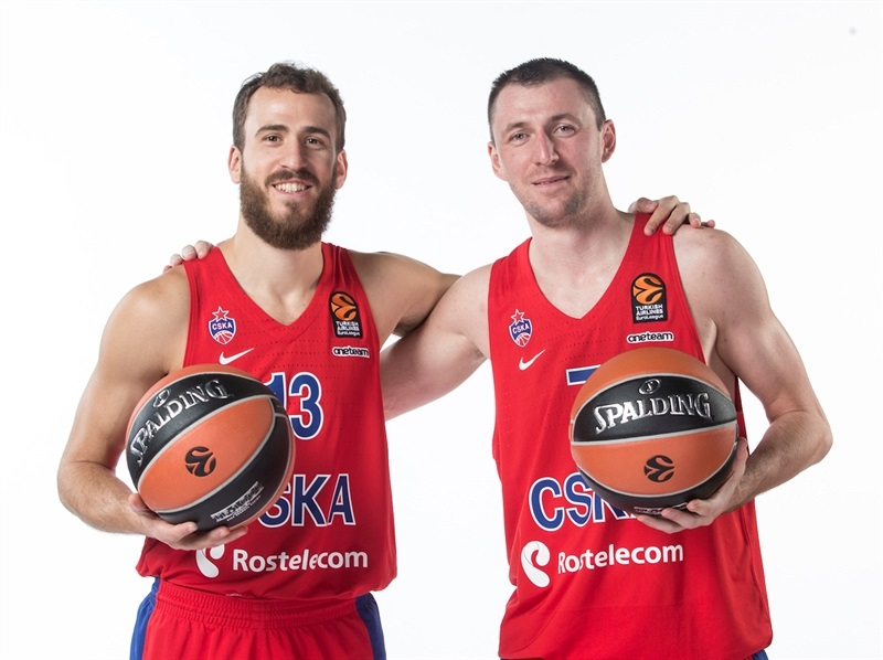 Sergio Rodriguez and Vitaly Fridzon - CSKA Moscow Media Day 2017 - EB17