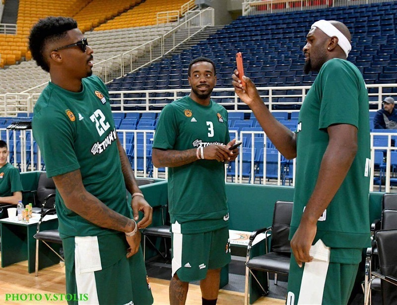 Kenny Gabriel, KC Rivers and Chris Singleton - Panathinaikos Superfoods Athens Media Day 2017 (photo V. Stolis) - EB17