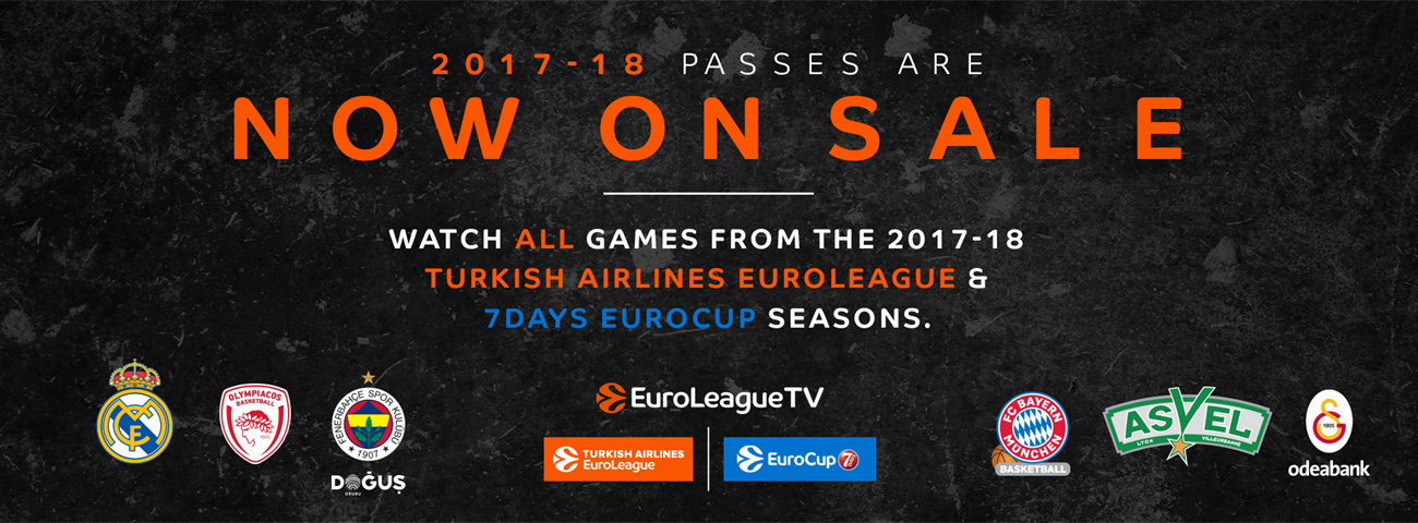 2017-18 EuroleagueTV passes on sale now!