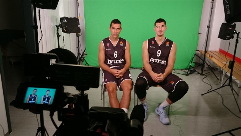 Nikos Zisis and Luka Mitrovic - Brose Bamberg Media Day 2017 - EB17
