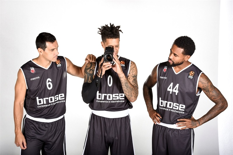 Zisis, Hackett and Taylor - Brose Bamberg Media Day 2017 - EB17