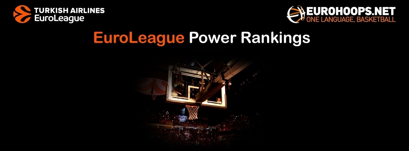 The EuroLeague Power Rankings by Eurohoops.net