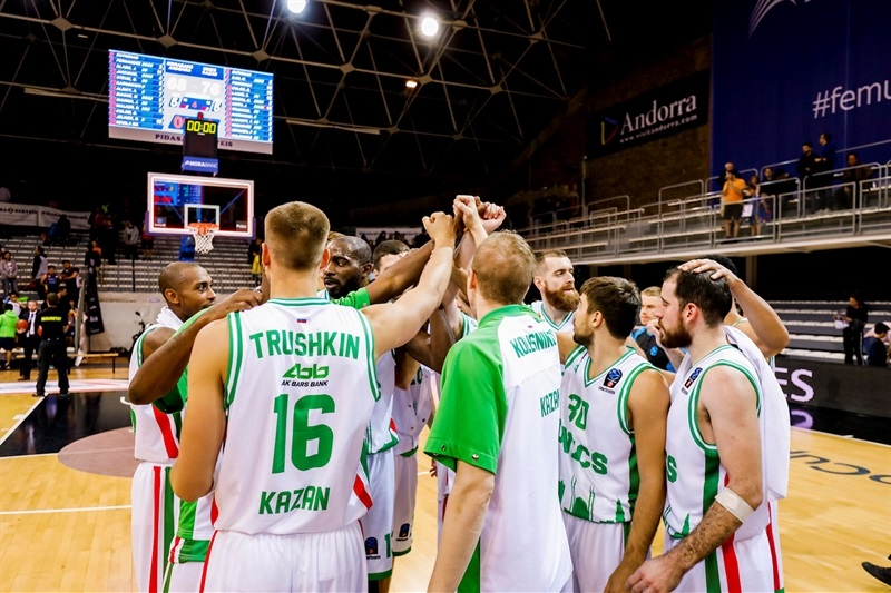 Unics Kazan celebrates (photo Andorra - Albert Martin Imatge) - EC17