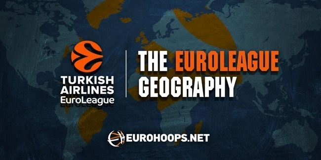 The 34 countries of the EuroLeague's 235 players!