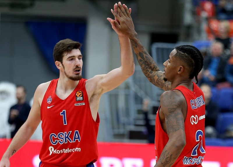 Nando De Colo and Will Clyburn celebrates - CSKA Moscow - EB17