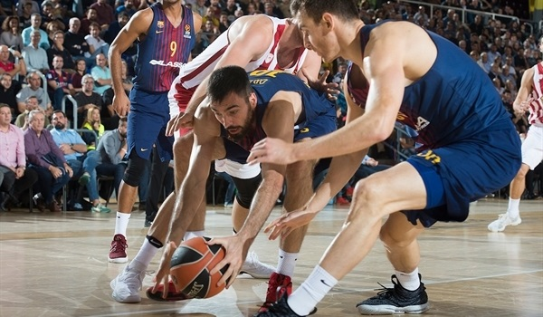 RS Round 5 report: Barcelona's defense tames previously unbeaten Olympiacos