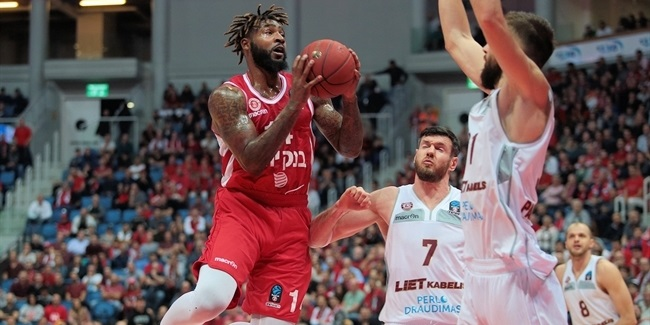 7DAYS EuroCup, Regular season, Round 6: Hapoel Bank Yahav Jerusalem vs. Lietkabeklis Panevezys