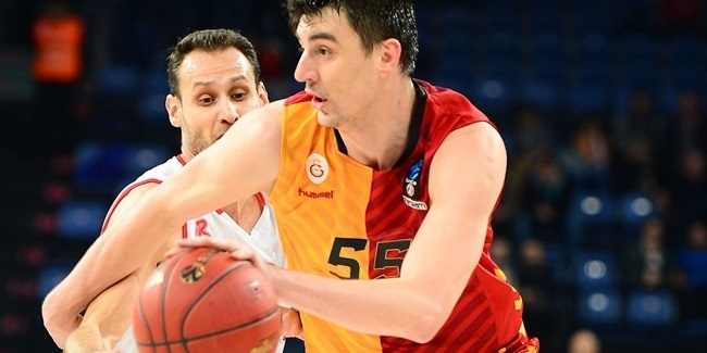 Galatasaray's Preldzic out for rest of Top 16