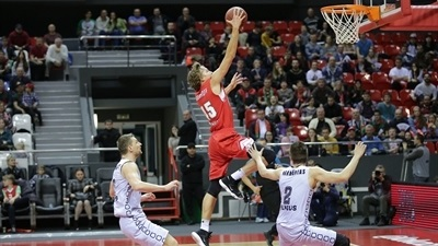 Unbeaten Lokomotiv holds off Rytas, clinches first place